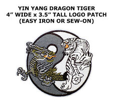 Yin Yang Tiger And Dragon Embroidered Iron On Patch Patches Sew Applique Diy