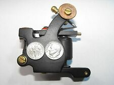 lucky dime steel tattoo machine with 10 rap coils nice frame with rca