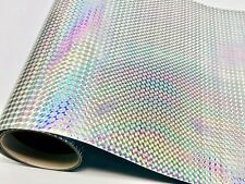 """Silver Holographic 1/4"""" Mosaic Sign Vinyl 24 inch x 30 Meters"""