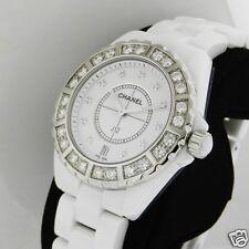 Chanel J12 Quartz 38mm H2430 Ceramic White Diamonds Brand NEW Retail: $19,200