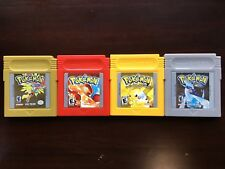 4 Pokemon Gold, Red, Yellow & Silver Nintendo Game Boy Color Games FAST SHIPPING
