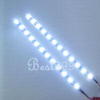"2x Cool White 12 LEDs 30cm/11.8"" 5050 SMD LED Strip Light Waterproof 12V Car JUK"