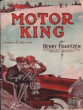 MOTOR KING Frantzen March Two-Step 1910 Antique CAR Sheet Music!