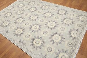 6' x 9' Hand knotted 100% Wool Oriental Area rug 6x9 Gray Modern Gray