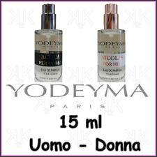 Yodeyma profumi Uomo Donna da 15ml Edp Spray senza confezione e tappo originali
