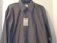Mens Alfani Alternatives Shirt 17 34/35 Dress or Casual Olive Green Button Cuffs