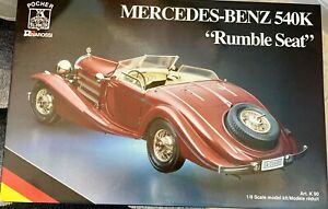 """Mercedes Benz 540K 1/8 scale model 1936 """"Rumble Seat"""" NEW. Factory SEALED"""