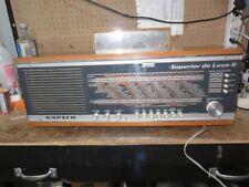 RADIO ANTIGUA KAPSCH SUPERIOR DE LUXE II - 1969