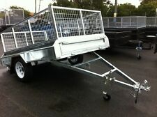 8X5 NEW HEAVY DUTY 600MM CAGED TRAILER DRIVE AWAY TODAY! 900MM AVAILABLE