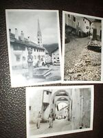 3 Old photographs Zuos Switzerland 1939