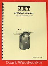 "JET/Asian 6"" Jointer Model JJ-6CS 708456 Operator's & Parts Manual 0891"