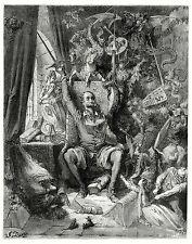 Gustave Dore Don Quixote In His Library 22X28 Art Poster Print (56X71cm)