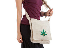 GANJA LEAF ECO HEMP SHOULDER BAG sativa marijuana hippy weed rasta cannabis