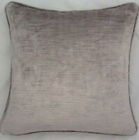 A 16 Inch Cushion Cover In Laura Ashley Villandry French Grey Velvet Fabric