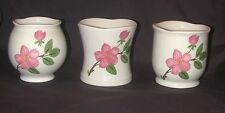 Johnson Brothers England Votive Candle Holders Pink Flowers