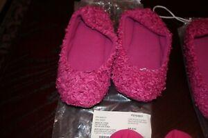 NEW AVON floral dream ballet style slippers/ Cozy Plush Slipper S/M/ (CHOOSE )