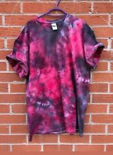 Black & Red TIE DYE T-SHIRT New Top Tshirt Festival Hipster Tye Dye Rainbow