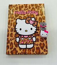 Sanrio Hello Kitty Leopard Kt Diary Notebook with Key Lock 288 Pages