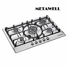 "Metawell 30"" Steel 5 Burner Built-In Stoves Gas Cooktop Home Kitchen Cooker"