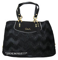 $398 COACH ASHLEY Gathered Satin Carryall Satchel Tote Purse Bag Authentic 20050