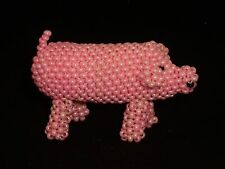 Arlene Cellicion-Beaded Pig-Zuni Fetish-Native American-Foke Art