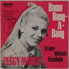 PEGGY MARCH: Boom Bang-A-Bang SIGNED Germany 45 PS Teen Pop