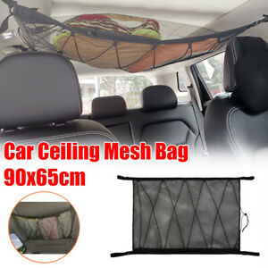 Car Roof Ceiling Cargo Net Mesh Storage Bag Organisers Pouch Pockets For SUV Van