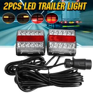 12V Magnetic 15 LED Towing Tail Light Trailer Truck Camper UTE Caravan Boat lamp