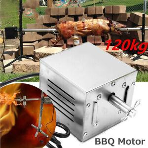25W 120KG 110/220V BBQ Motor Pig Chicken Lamb Spit Rotisserie Outdoors Roaster