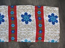 "Vintage 1970s Flower Print Curtain Valance, 70"" Long x 8"" Wide"