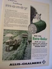 VINTAGE  ALLIS CHALMERS ADVERTISING -NEW  ROTO - BALER - 1956
