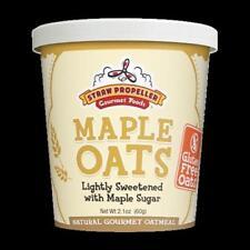 Straw Propeller Gourmet Foods 2.1 oz. Maple Oats Hot Oatmeal Case Pack 12