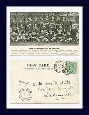 UK COLONIAL SOUTH AFRICA RUGBY SPRINGBOKS IN LONDON 1906 TO R.W. VON MOLTKE