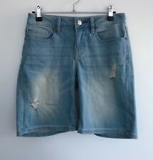 Jeanswest Women's Denim Shorts Size 8 Blue Distressed Cotton Lycra