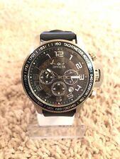 Invicta Mens 13803 Silver Tone Black Rubber Strap Analog Watch #51