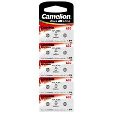 Blister 10 piles bouton Camelion AG 0 / LR63 / LR521 / 379 EXPEDITION FRANCE