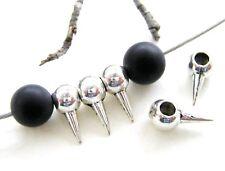 Metal perlas spacer spikes espinillas 20/50/100 trozo de metal serajosy remolques