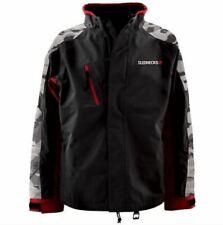 Slednecks Free Ride Snowmobile Jacket, Snow Camo, Black, Charcoal and Red, 2XL
