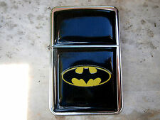 BATMAN EMBLEM MOVIE STAR BRAND FLIP CIGARETTE LIGHTER ROBIN & EXTRA ZIPPO FLINTS