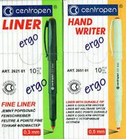 Fineliner 0,5mm, Feinschreiber 0,3 mm centropen ergo in 4 Farben lieferbar Liner