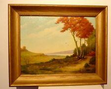 Vintage Hugo D Pohl Texas Regionalist Oil Painting Autumn Leaves 23509