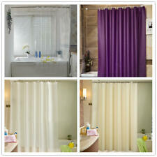 2M PEVA Solid Bathroon Shower Curtain Liner Water-resistant Mildew Resistant