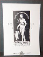 EROTICA - Ex-Libris Originale KRYVORUCKO Cranach CCCP Russia Mario De Filippis
