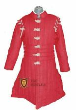 Thick Padded Ladies Full Length Gambeson Coat Aketon Jacket Armor - Red Color Co