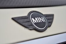 JCW R56 Carbon cover fit on Mini cooper S BOOTLID TAILGATE TRUNK CHROME BADGE
