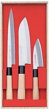 MADE IN JAPAN Japanese chef knife 3 Knives SANTOKU SASHIMI DEBA /Kasumi