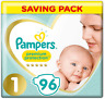 Pampers Premium Protection New Baby Size 1 96 Nappies 2 5 Kg Monthly Pack New