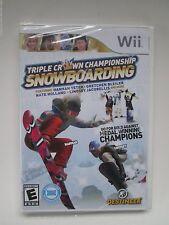 Triple Crown Championship Snowboarding (Nintendo Wii, 2010) Brand New (NTSC)