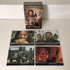 LORD OF THE RINGS: RETURN OF THE KING UPDATE EDITION Complete Card Set #91-#162