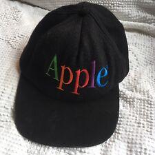 30900224 Vintage Apple Computers Spell Out Logo Felt Hat Cap 90s Macintosh Mac Steve  Jobs